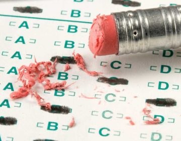 Close-up of a standardized test.