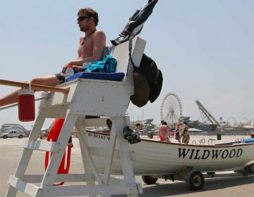A lifeguard protects the beaches at Wildwood.