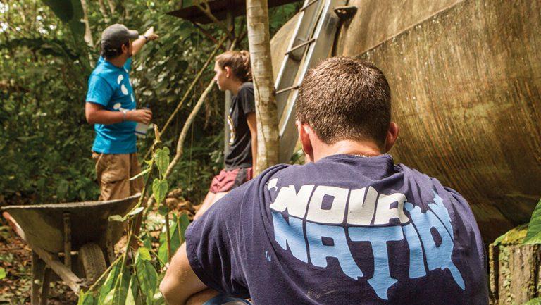 Villanova students working in Nicaragua. (Photo courtesy of Villanova Univesity)