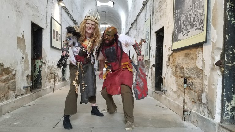 Actors perform as denizens of Blood Yard, a new element of Eastern State Penitentiary's