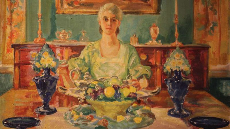 A portrait of Violet Oakley painted by her life partner, Edith Emerson, is included in the exhibit. (Woodmere Art Museum)