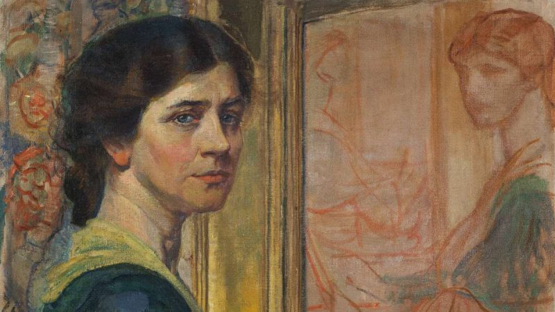 Violet Oakley, 1874 - 1961, painted this self-portrait in 1919. (Glenn Castellano)