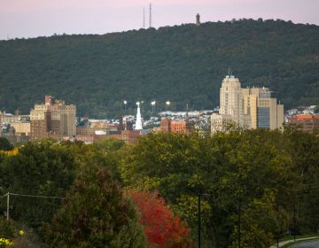 A view of Reading, Pennsylvania from Museum Road. The city is carved out of the 6th U.S. Congressional District and included with Lancaster and Chester Counties. (Lindsay Lazarski/WHYY)