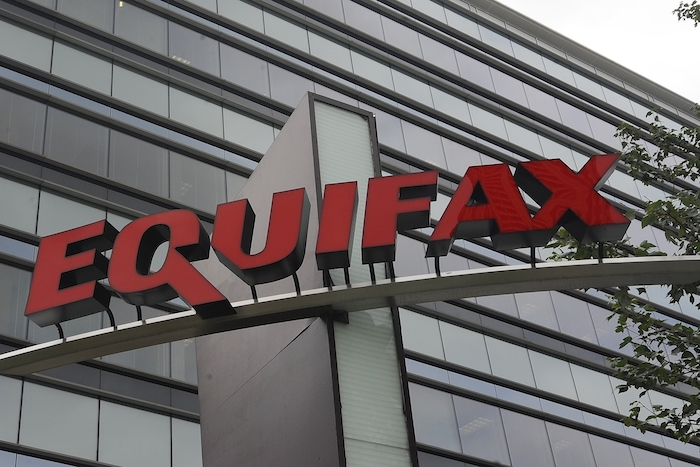 Equifax Inc. is seen, in this Saturday, July 21, 2012 photo, in Atlanta. Equifax Inc. is a consumer credit reporting agency in the United States, considered one of the three largest American credit agencies along with Experian and TransUnion. (AP Photo/Mike Stewart)