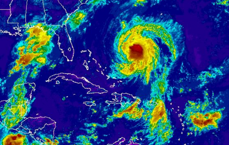 Hurricane Jose as seen on NOAA's infrared satellite early Friday afternoon.