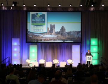 Oil and gas industry executives gathered Wednesday at the David L. Lawrence Convention Center in Pittsburgh for the annual Shale Insight conference. (MEGAN HARRIS / WESA)