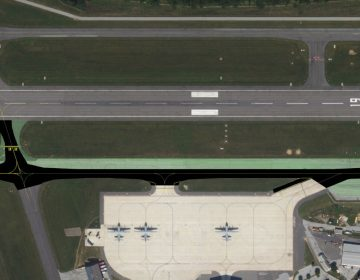 A new parallel taxiway is designed to improve safety and efficiency at the Wilmington Airport. (photo courtesy DRBA)