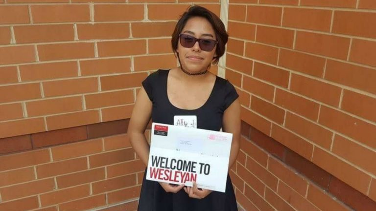 Alejandra Villamares, who was awarded DACA status in September 2016, just started her freshman year at Wesleyan (Conn.) University. (Courtesy of Alejandra Villamares)