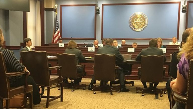 Lawmakers heard from several panels — from both inside, and outside state government — on how the unemployment compensation funding situation is affecting people, and how it can be improved. (Katie Meyer/WITF)