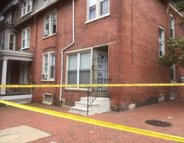 Two children were found dead inside this Wilmington home on the corner of 8th and Adams streets Monday morning. (Zoë Read/WHYY)