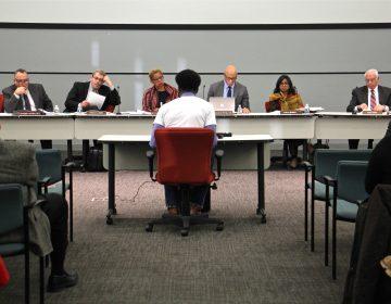 Kileeo Wideman testifies on behalf of Deep Roots Charter School before the School Reform Commission