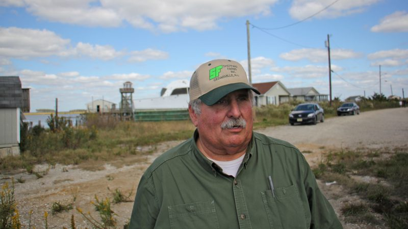G. Erwin Sheppard, who was mayor of Lawrence Township during Hurricane Sandy and still serves on the township council, visits what remains of Bay Point.
