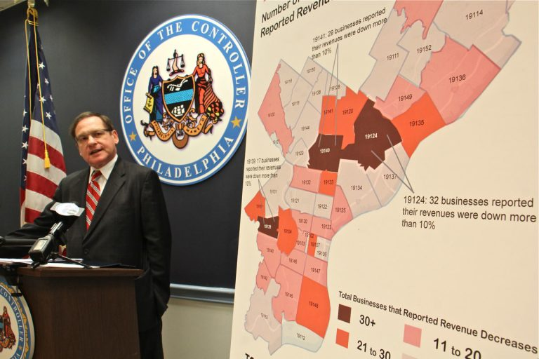 City Controller Alan Butkovitz outlines the impact of Philadelphia's beverage tax on businesses, 88 percent of which reported some level of revenue loss. Losses appeared to be concentrated in some of the city's poorest neighborhoods.