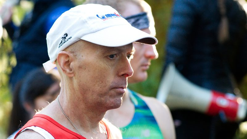 Kevin Peters, of West Mt. Airy, prepares for the start of the WXPN 5K, on Sunday. (Bastiaan Slabbers for WHYY)
