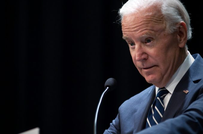 Former V.P. Joe Biden speaks during a partnership announcement between Doylestown Health and The Beau Biden Foundation, in Warminster, Pa., on Tuesday. (Bas Slabbers/for WHYY)