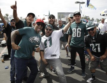 A squad of Eagles fans! GO BIRDS!! E-A-G-L-E-S-EAGLES!
