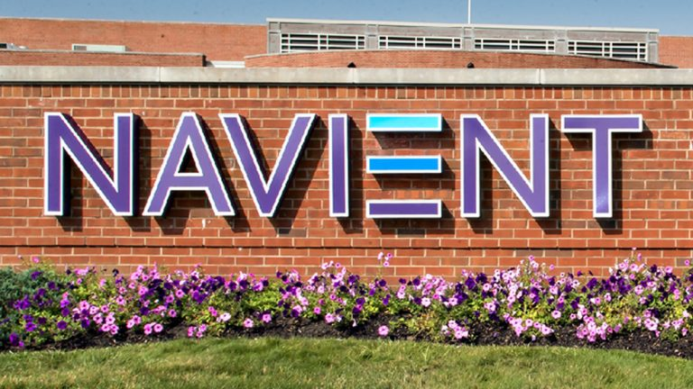 A sign outside of the Navient office