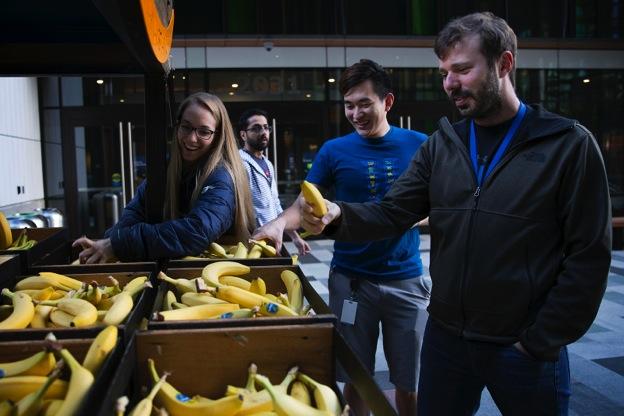 A man at a banana stand