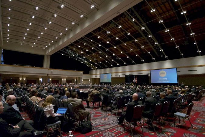 Wide shot of the Convention Center