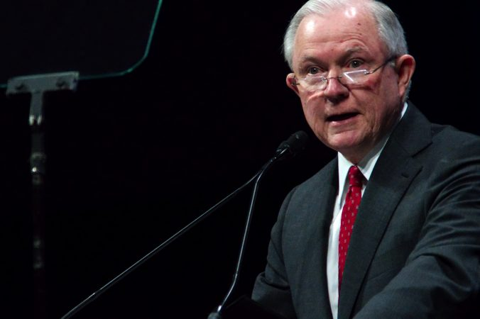 U.S. Attorney General Jeff Sessions delivers the keynote address during the General Assembly of the International Association of Chiefs of Police conference in Philadelphia