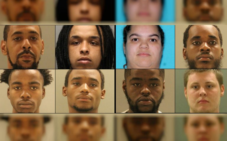 Delaware police arrest eight adults and three juveniles accused of selling drugs as part of the Exit 4/Mag Boys Gang. (photos courtesy NCCo Police)