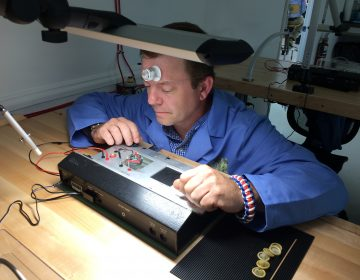 Air Force veteran Don Morton is learning the art of watchmaking through the Veterans Watchmaker Initiative (Shirley Min/WHYY)