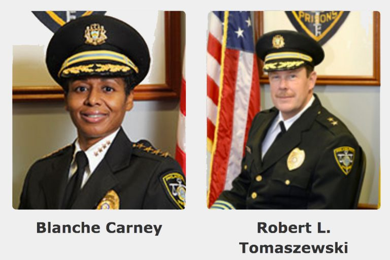 Philadelphia prisons Commissioner Blanche Carney and Deputy Commissioner Robert Tomaszewski appear side-by-side on the city's website. (phila.gov)