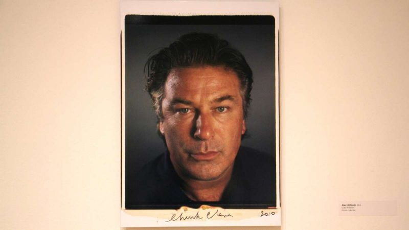 A color polaroid of Alec Baldwin made in 2010. Chuck Close called his portraits ''heads'' to make clear that he was not trying to interpret or convey a subject's personality.