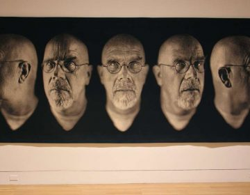 The Pennsylvania Academy of Fine Arts is hosting the first major exhibition in Philadelphia of the photographs of Chuck Close. The 183-inch-long ''Self-Portrait/Five Part'' was made in 2009.