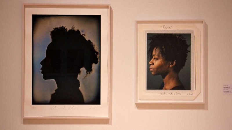 A pigment print of artist Kara Walker from 2008 and a maquette made in 2010.