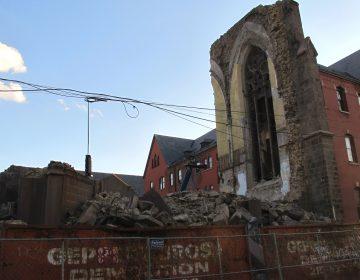 St. Boniface Church demolition, Norris Square. April 2012. (PlanPhilly file)