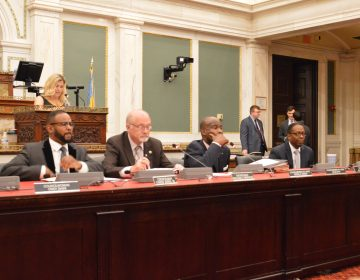 Council members at a table