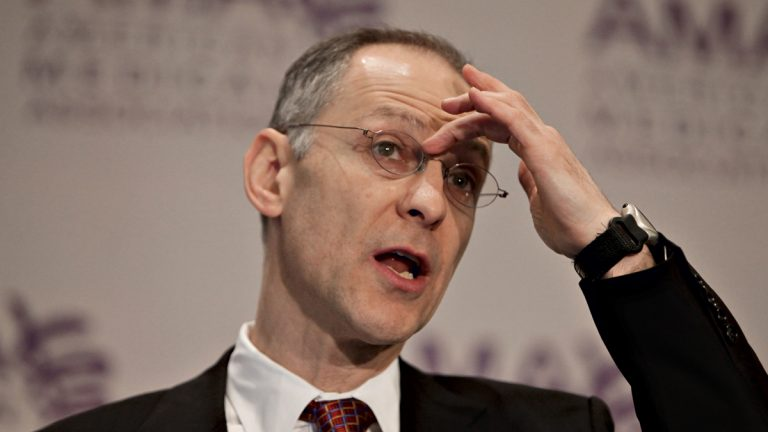 Dr. Ezekiel J. Emanuel is shown speaking at the American Medical Association's annual conference in 2009.