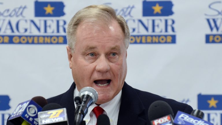 Pennsylvania state Sen. Scott Wagner, who is running for the GOP gubernatorial nomination next year, has been urging fellow Republicans not to support a natural gas severance tax — in part because he thinks it would help Democratic Gov. Tom Wolf politically. (AP file photo)