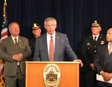 Montgomery County District Attorney Kevin R. Steele announces a drug bust in which authorities seized a kilogram of the deadly opioid fentanyl.
