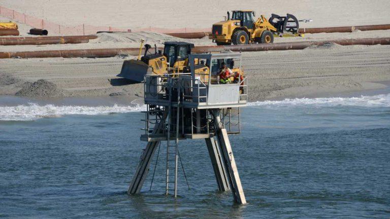 Beach Replenishment Gets Underway In Northern Ocean County