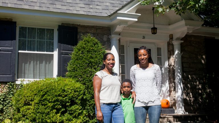 Jameira Miller pictured with her mother, Jamella, and brother Bryant at their Landsdowne home was featured in a new documentary on the National Geographic Channel about educational divides. The Millers are named along with other families and area school districts in a lawsuit against the Pennsylvania Department of Education over the quality of public education in the state (Brad Larrison for NewsWorks, file)