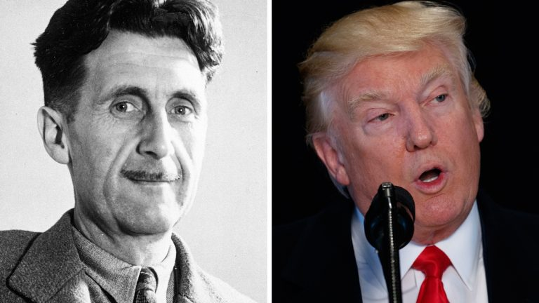 George Orwell and Donald Trump