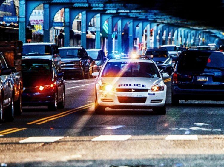 police car under the el kensington