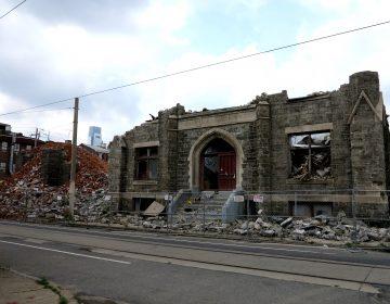 Ruffin Nichols Memorial AME demolition in progress
