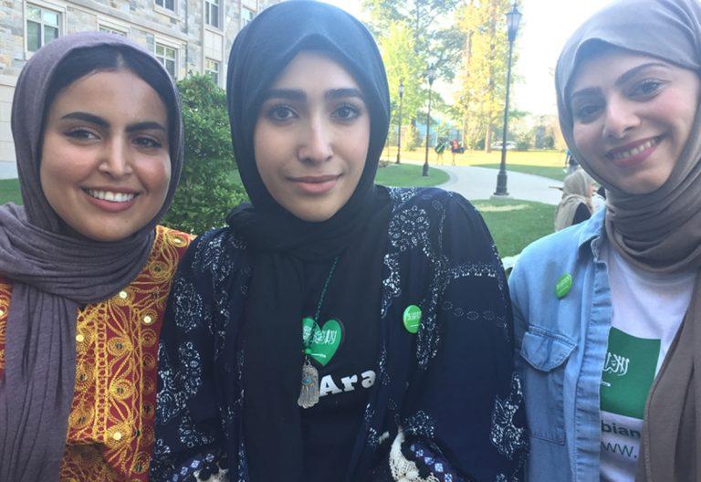 Three Saudi women, American students