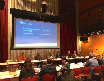 The Historic Preservation Task Force meets in Philadelphia University's Kanbar Center