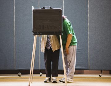 A woman assists her mother filling out her ballot in a church polling place in Lancaster, Pa. (AP File Photo/Matt Rourke)