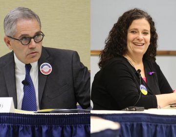 Philadelphia district attorney candidates Larry Krasner and Beth Grossman.