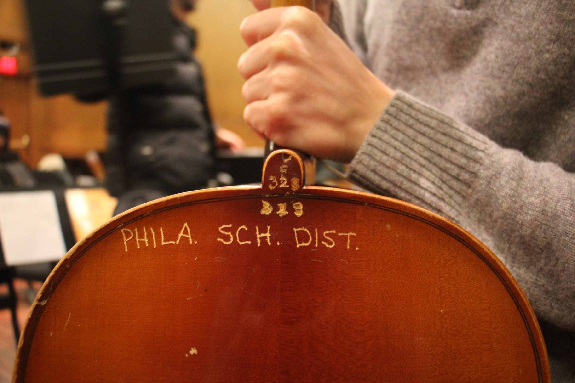 A Philadelphai school district cello in need of repair