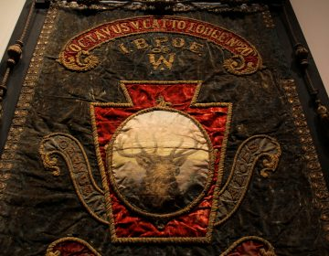 A banner commemorates the 1903 opening of the Octavius V. Catto Elks Lodge in Philadelphia.