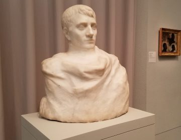 A bust of Napoleon Bonaparte by Auguste Rodin is on display at the Philadelphia Museum of Art.
