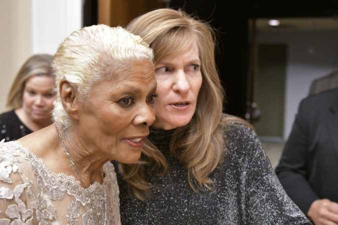Dionne Warwick back stage, ahead of receiving the Marian Anderson Award, on Tuesday, at the Kimmel Center. (Bastiaan Slabbers for WHYY)