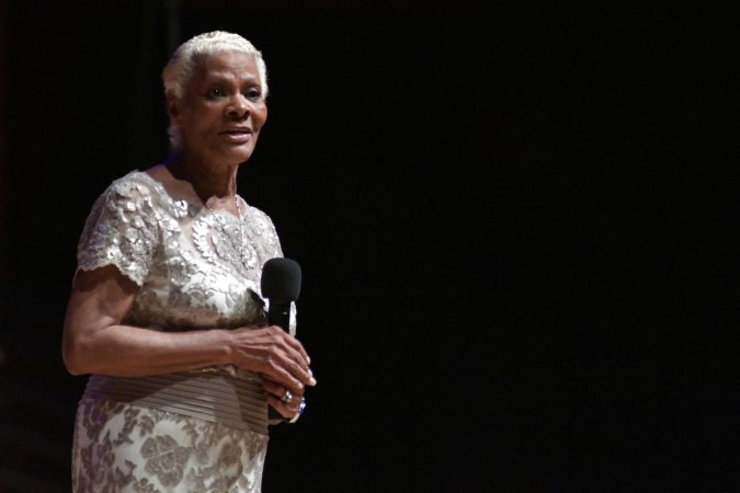 Dionne Warwick receives the Marian Anderson Award at a ceremony at the Kimmel Center, on Tuesday. (Bastiaan Slabbers for WHYY)