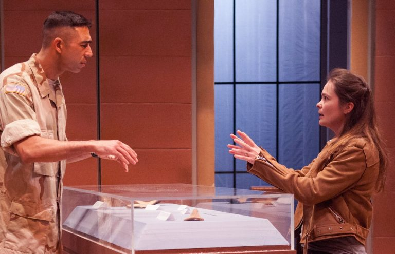 Rand Guerrero and Charlotte Northeast in InterAct Theatre Company's production of